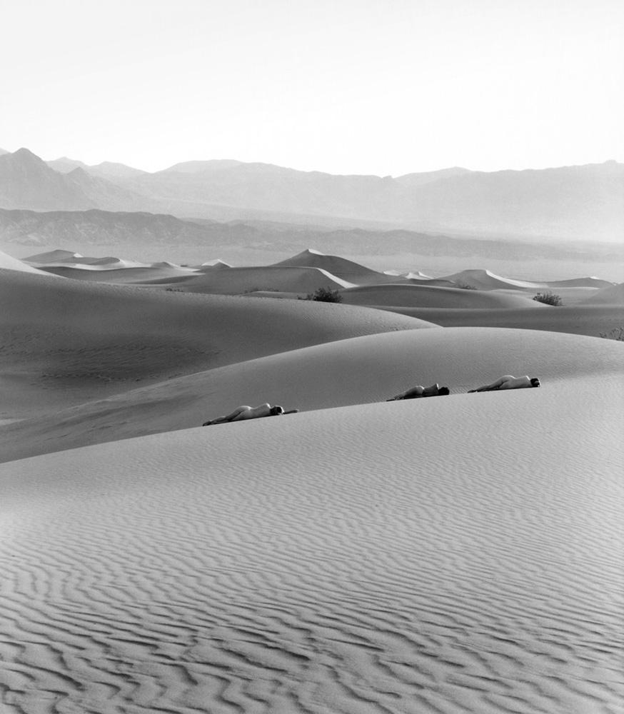 Three Nudes on Dunes, 1990 © Edna Bullock