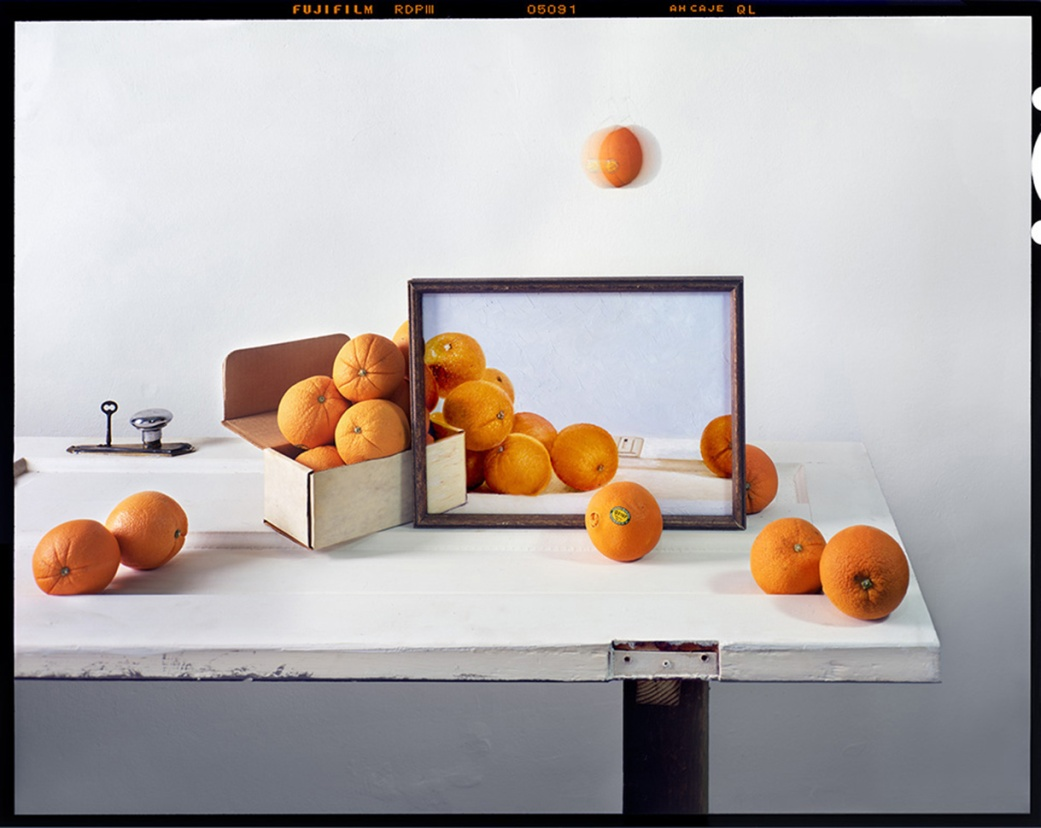 Oranges, Box and Painting © John Chervinsky