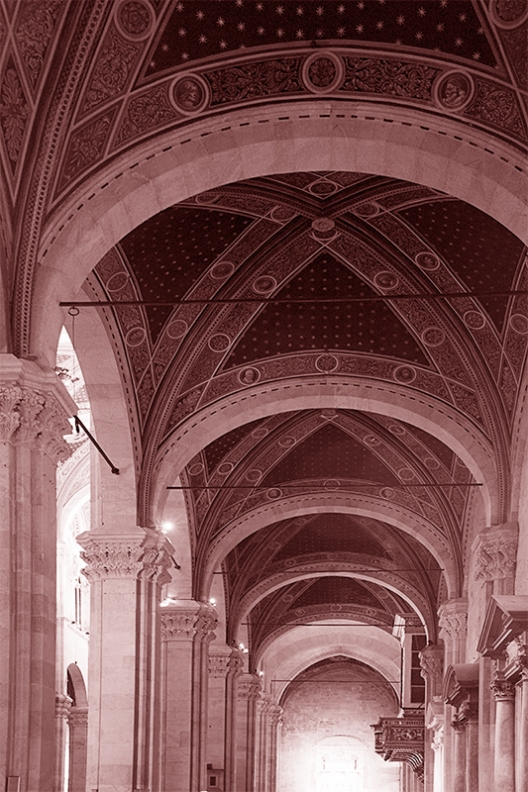Cathedral Lucca © Mark Nelson,Gravure