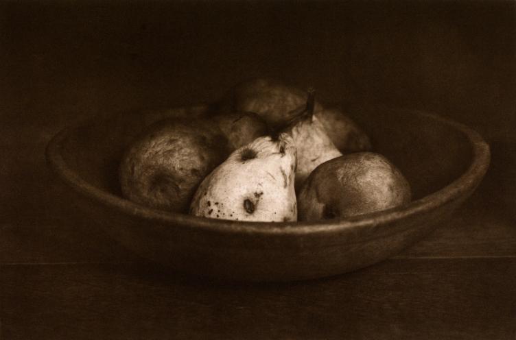 Hettas Bowl Pears © Mark Nelson, Gravure
