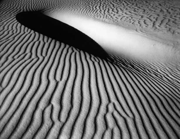 "Sand Dune, National White Sands, NM 1973 From the portfolio entitled, ""Mother of Pearls"" -- a tribute to Minor White © William Giles."